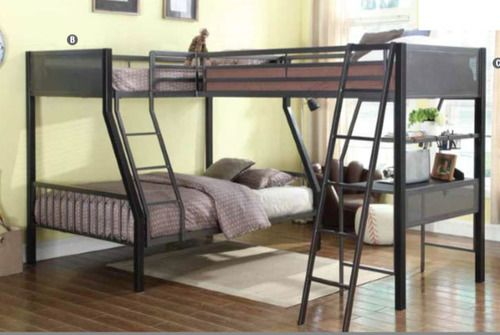 Miles Black Dark Gray Twin Full Loft Bunk Loft Bunk Beds Bunk