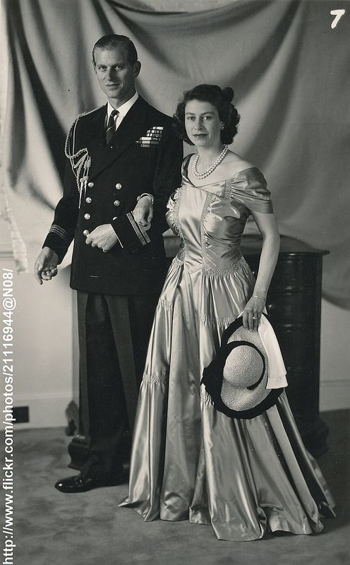 Princess Elizabeth & Prince Philip ; I've never seen this one before.