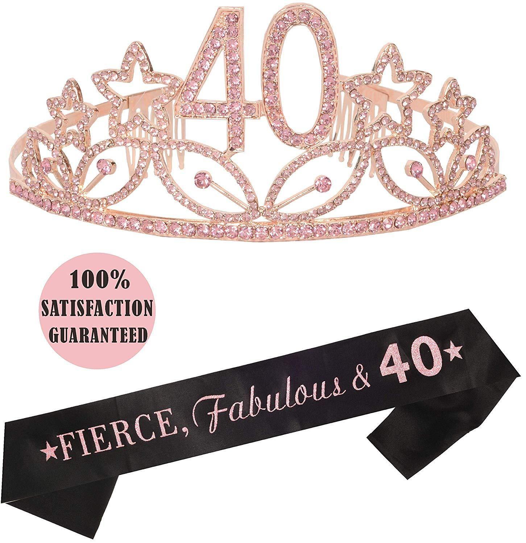21St Birthday Tiara /& Sash Cake Topper Happy Banner Satin 21 Fabulous Party Supp