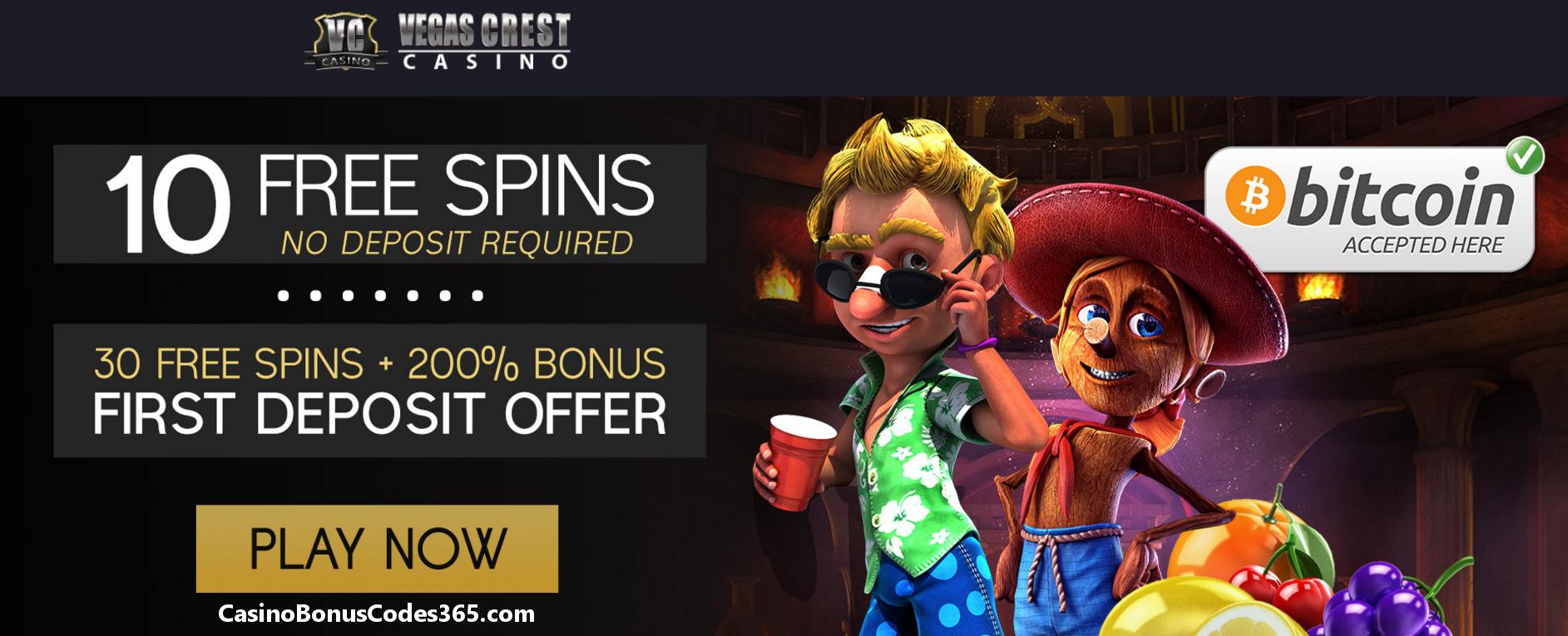 Vegas crest casino bonus code