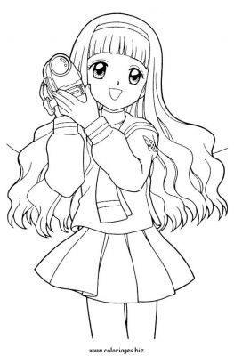 Pin By みか たぬ On Cardcaptor Sakura Cartoon Coloring Pages Chibi Coloring Pages Cute Coloring Pages