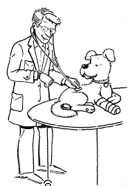Kid Vet Clipart Black And White Google Search Dog Coloring Page Owl Coloring Pages Coloring Pages