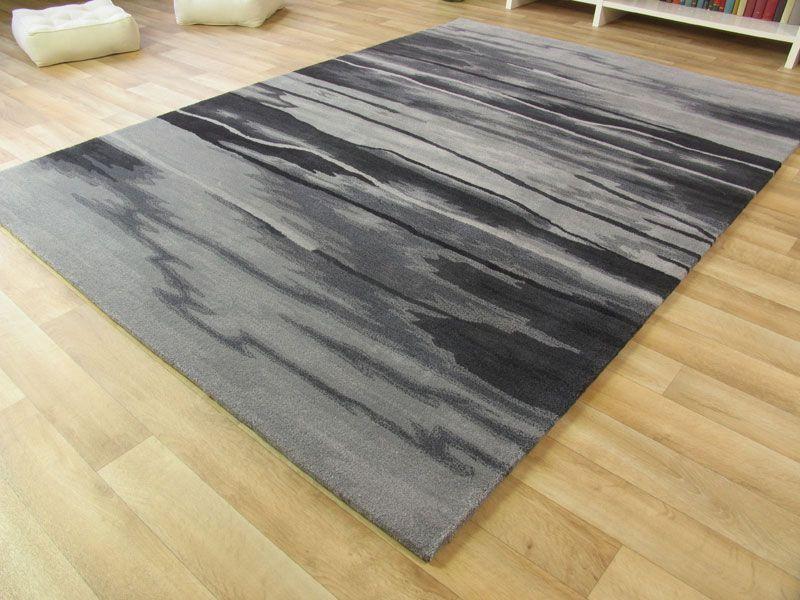 Moderner Designer Teppich Belmondo Wild & Crazy  silber