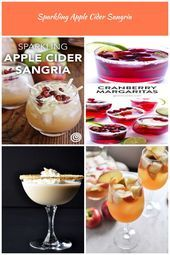 Sparkling Apple Cider Sangria Recipe. This is a great idea for party punches thi...,  #alchol... #applecidersangriarecipe