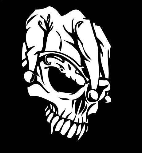 4 99 Skull Head Decal Jester Skull Head Sticker Skull Head