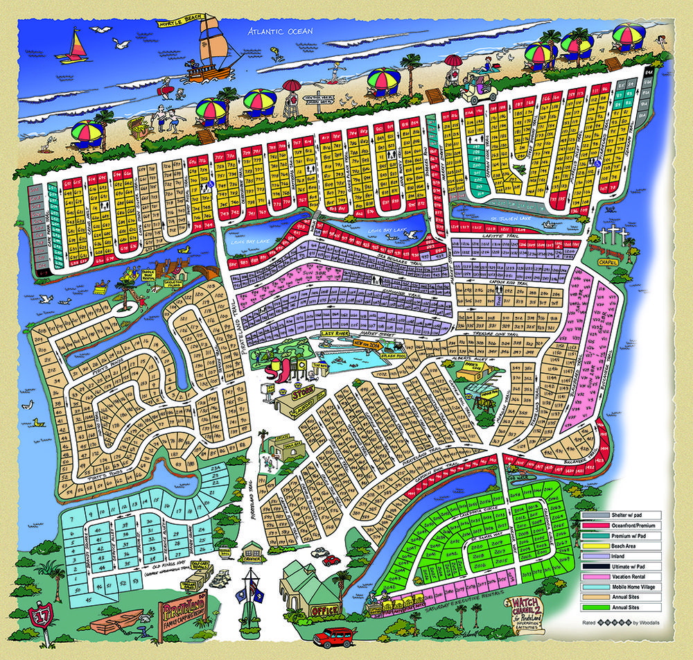 Park Map — Pirateland Family Camping Resort | Campout