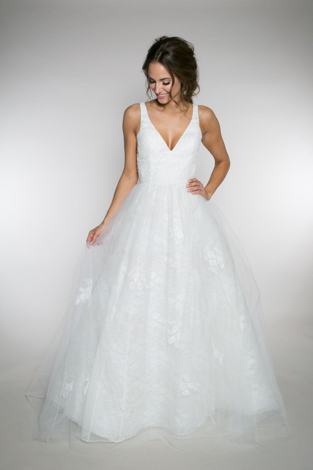 Emma Rose} This flowing ball gown, wedding dress uses multiple ...