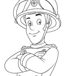 Drawing Fireman Sam Elvis Google Sogning Fireman Sam Fireman Colouring Pages