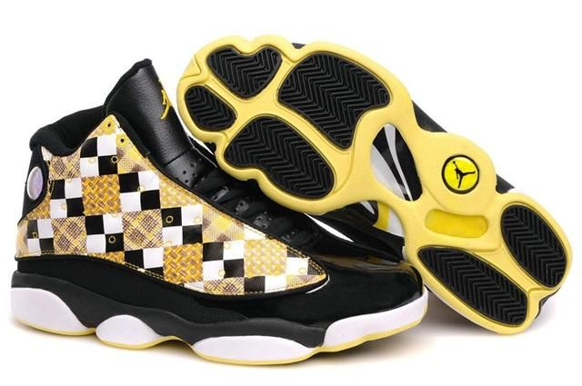 the latest a811e 71d95 Air Jordan 13 Plaid Black White Yellow | Air Jordan 13 in ...