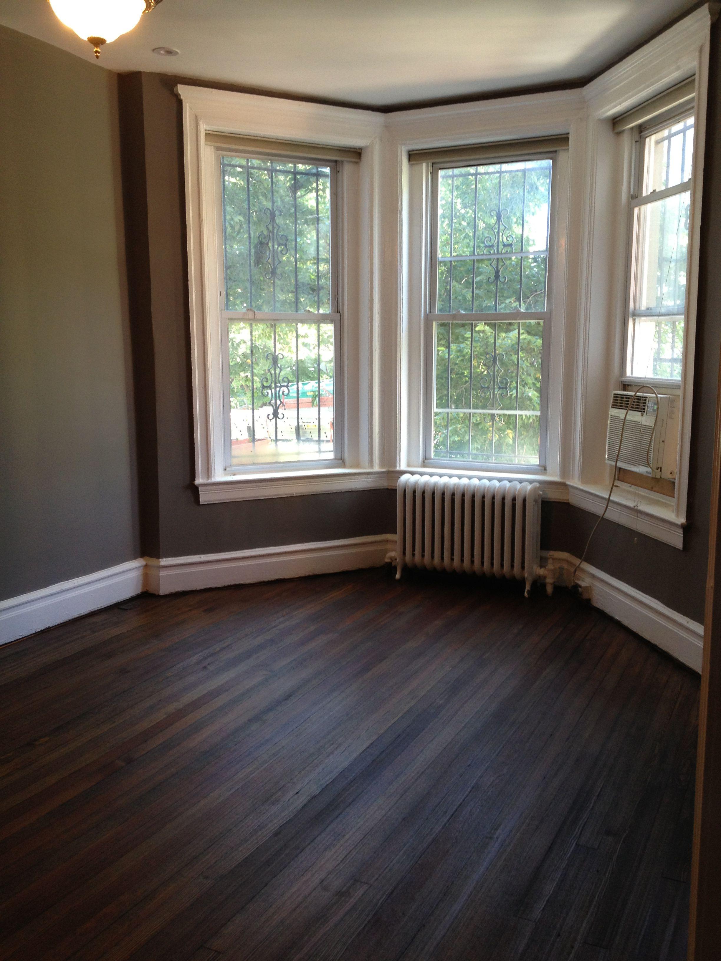 Living Room Bay Windows Creek Bend Behr Grey Paint Dark