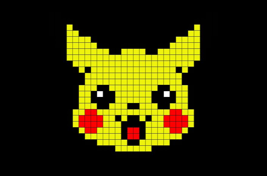 Pikachu Pixel Art Buscar Con Google Anime Pixel Art