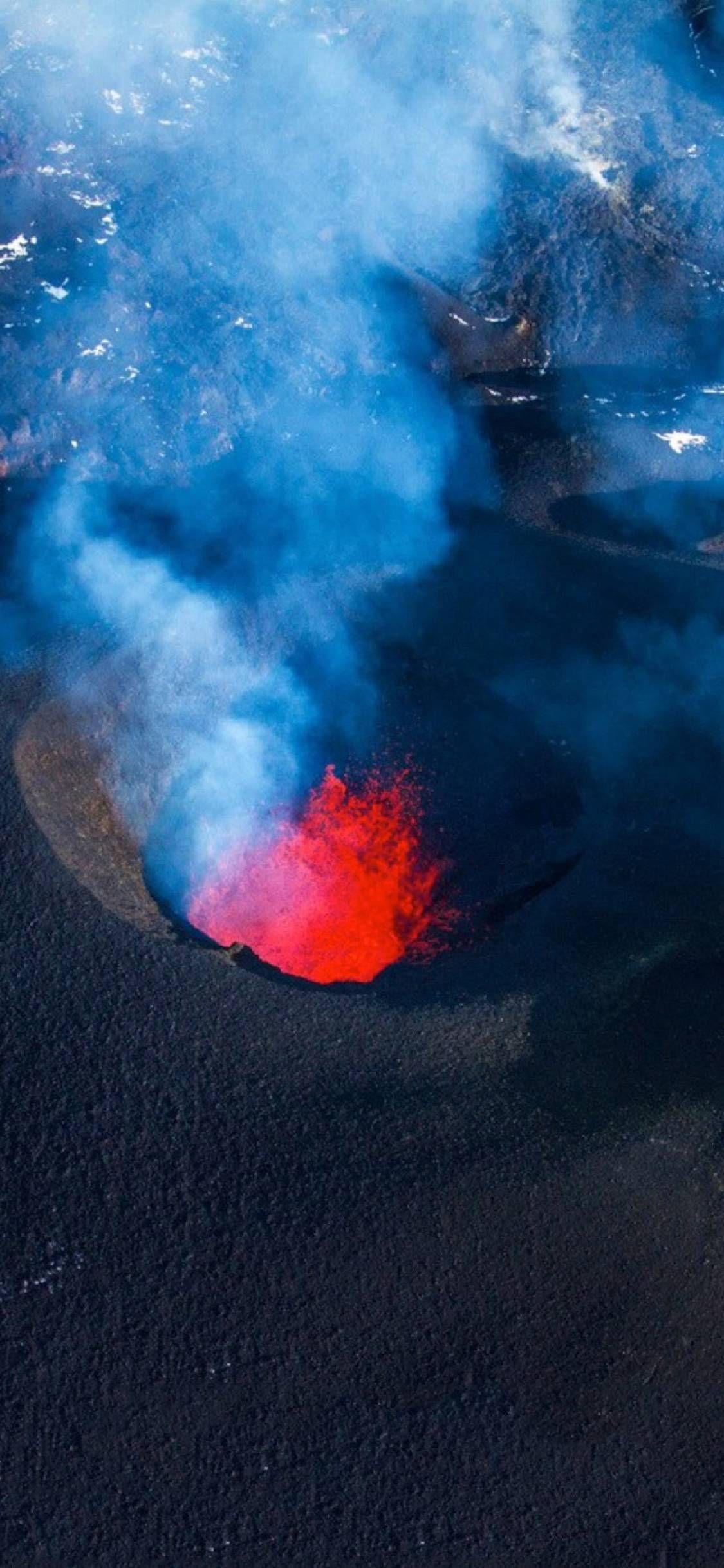 Lava oar aerosol is dangerous Wallpapers for iPhone X