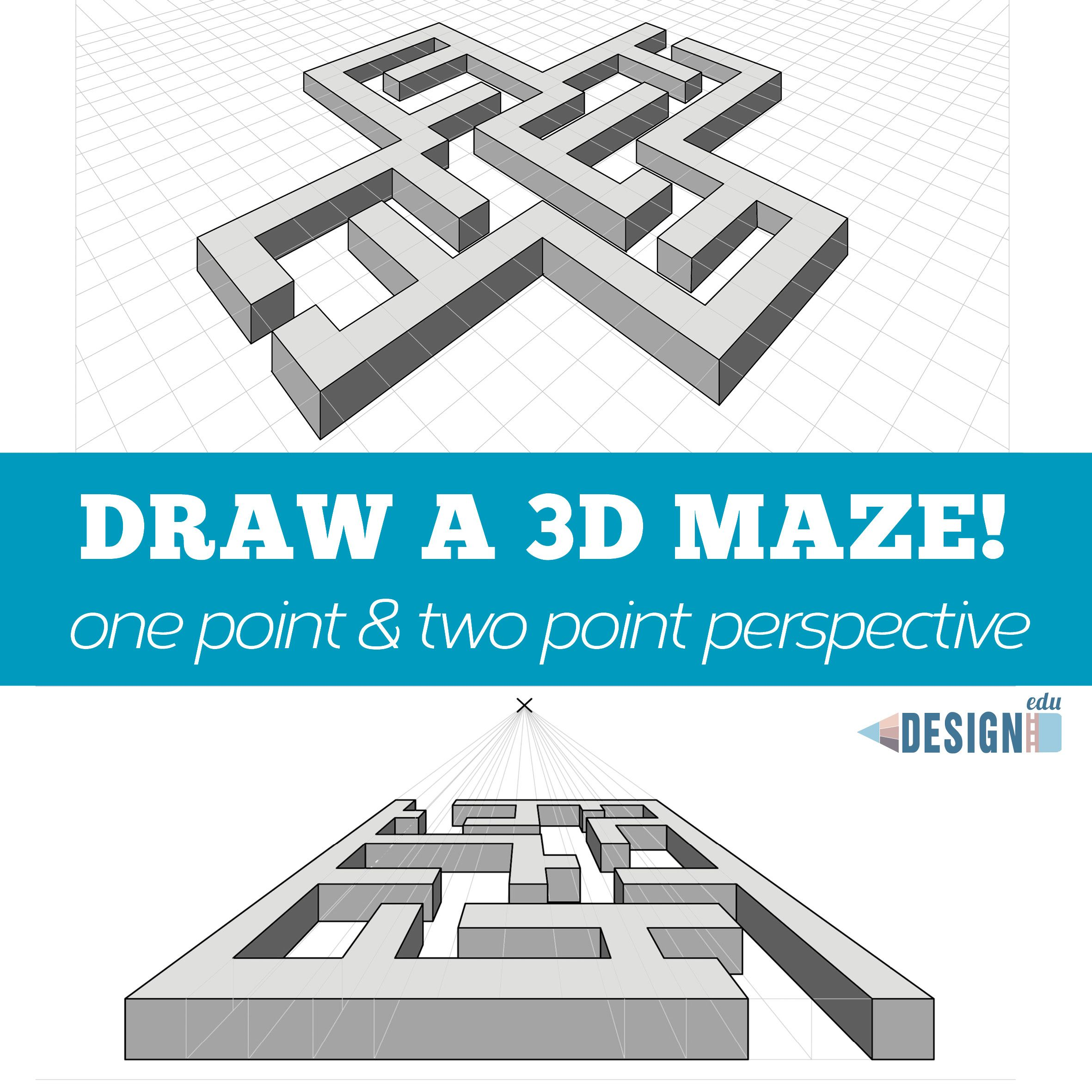 3d Maze Drawing Art Lessons
