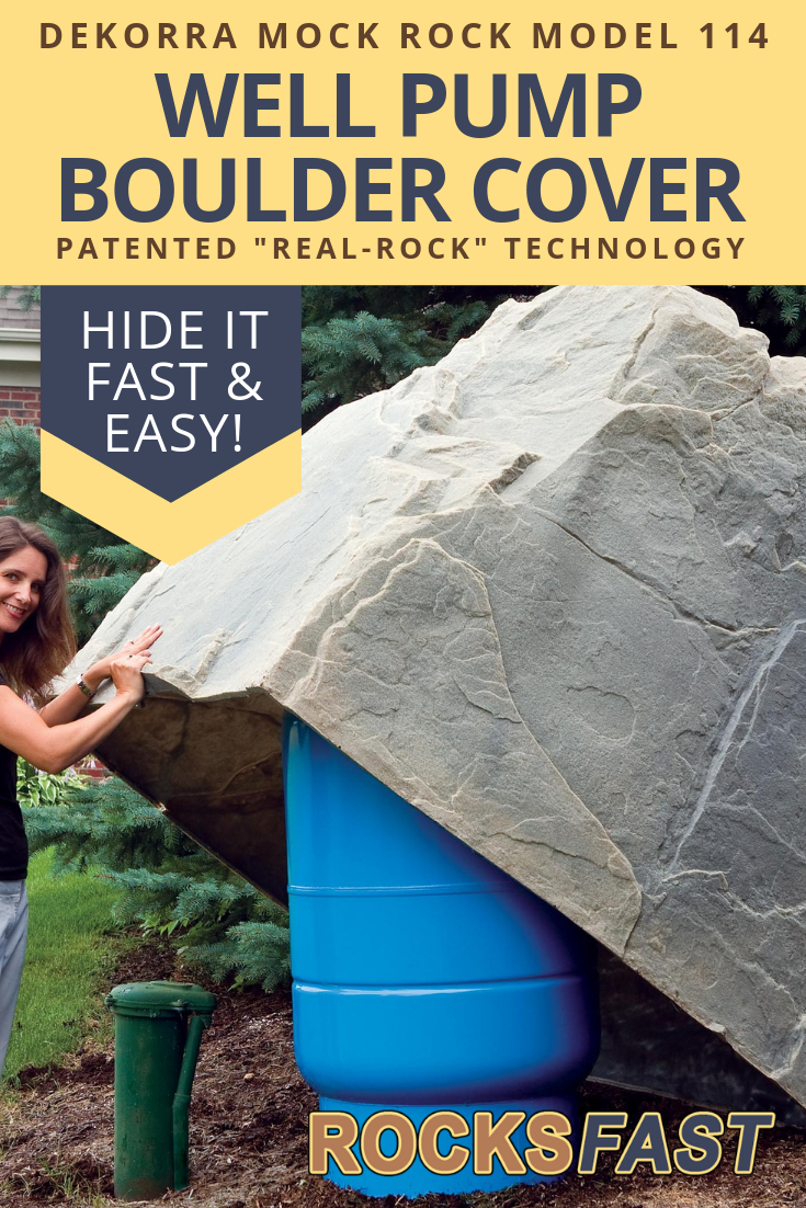Dekorra Mock Rock Model 114 Fake Rock Cover Well Pump Cover Fake Rock Fake Rock Covers