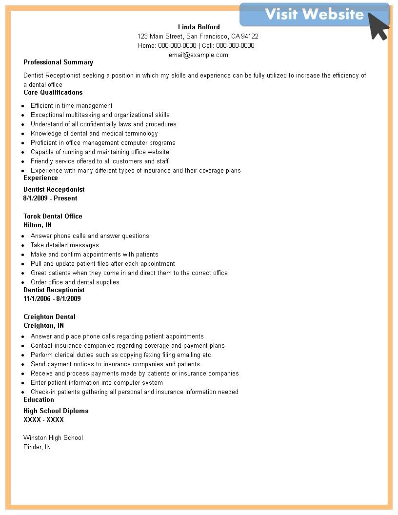 Front Desk Receptionist Administrative Assistant Job Description