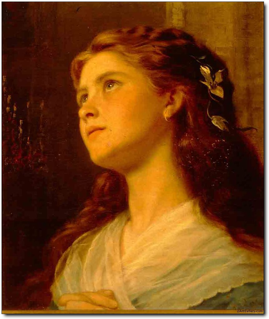 b>Portrait</b> of Young Girl by Anderson,Oil paintings of <b ...