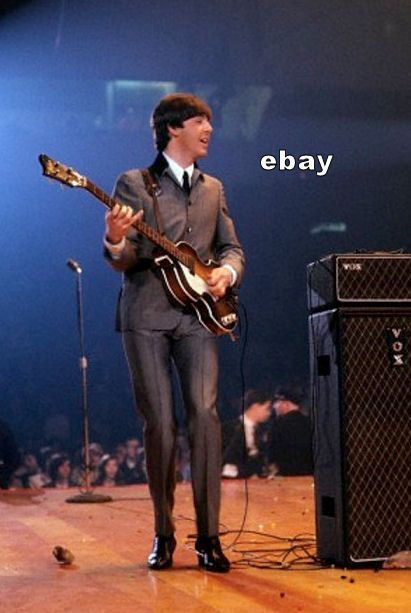 PAUL McCARTNEY 1964 HOFNER VOX AMP WASHINGTON DC 1st UBEATLES US CONCERT PHOTO