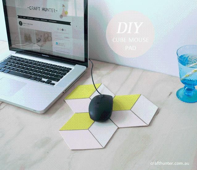 Diy Tutorial Diy Mouse Pad Diy Cube Mouse Pad Bead Cord Diy Mouse Pad Mouse Pad Unique Mouse Pad