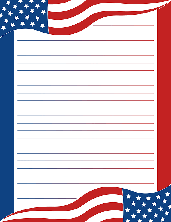 picture regarding Free Printable American Flag known as Pin via Muse Printables upon Printable Stationery Free of charge