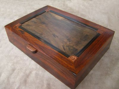 Cocobolo box w accents Boxes Pinterest Box Woodworking and