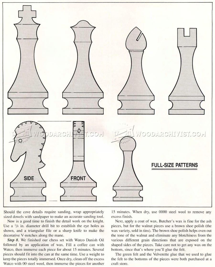 Band Saw Chess Pieces Woodworking Plans Chess Pieces Bandsaw Woodworking Plans