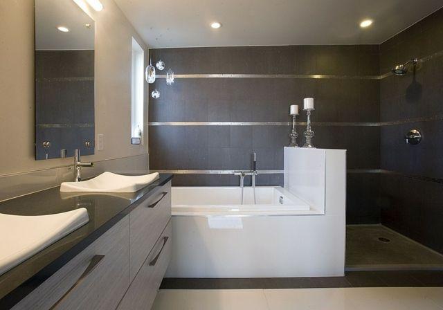 le design salle de bain: 100 salles de bain modernes | shabby chic ... - Finition De Salle De Bain