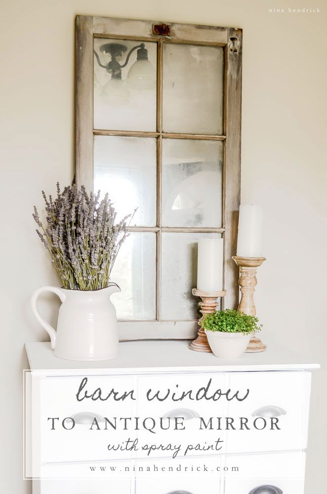 Barn Window To Antique Mirror With Looking Glass Spray Paint