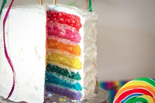 Awesome Birthday Idea! Rainbow Cake.