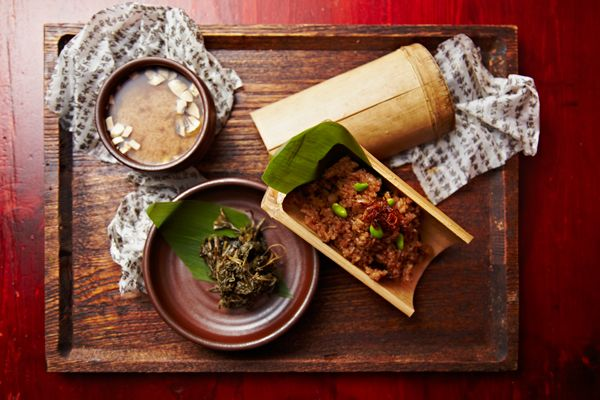 Hangawi Korean Vegetarian Restaurant Midtown Rated Zagat Food Rating 25 Decor