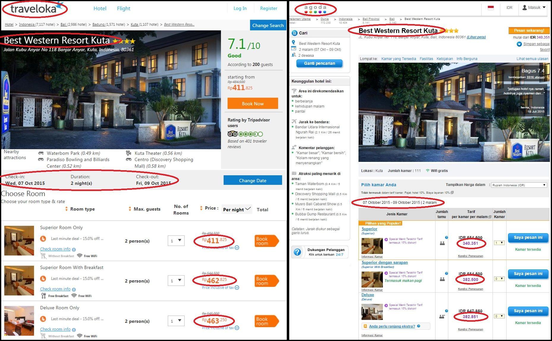 Mana Yang Lebih Murah Pesan Tiket Hotel Best Western Resort Kuta
