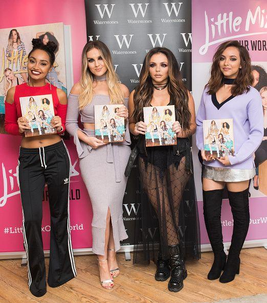 Little Mix Sign Copies Of Their New Book Our World October 22 2016 Little Mix Litte Mix Women