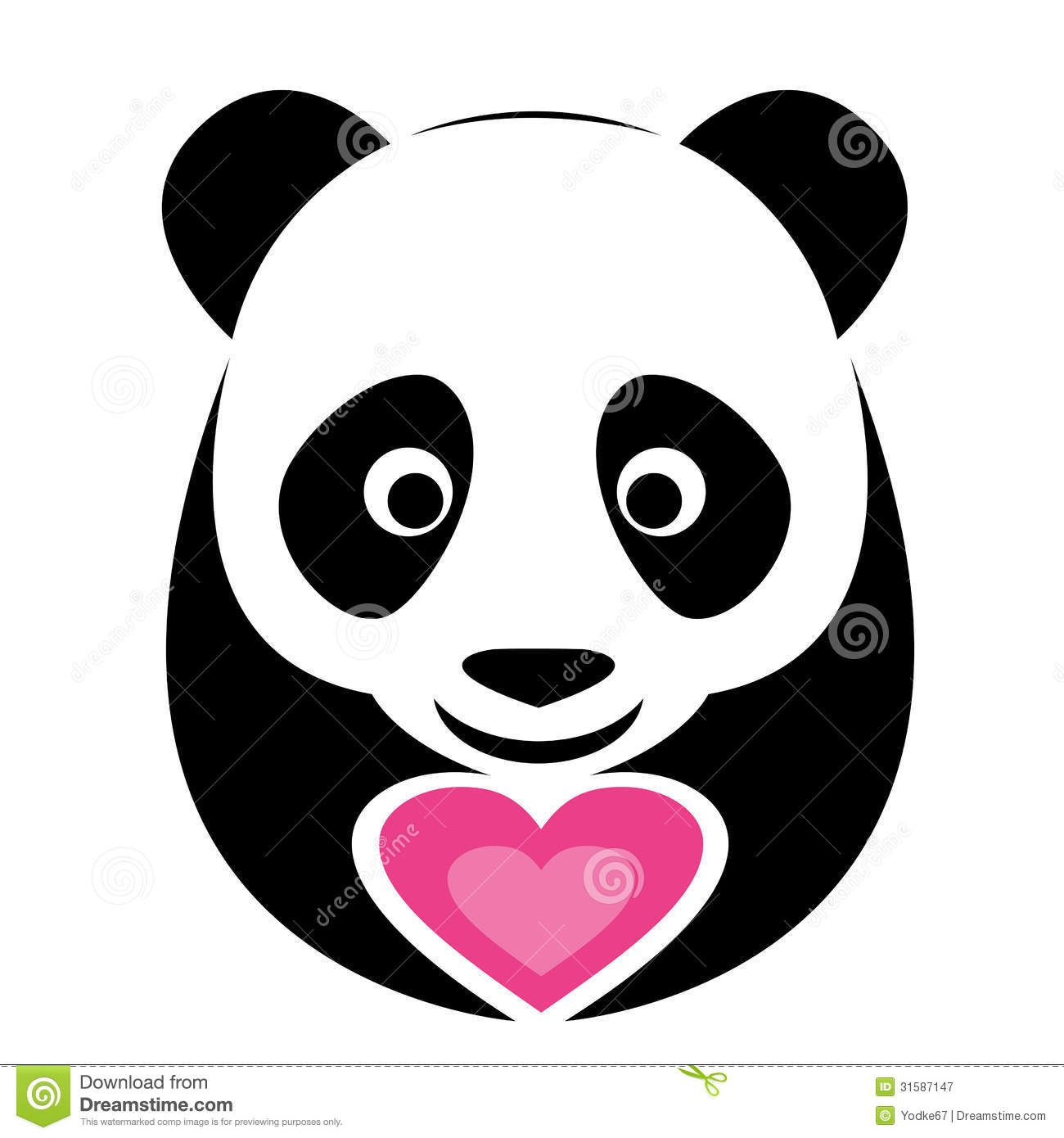 Clipart Panda Face Vector Image Of An Panda And