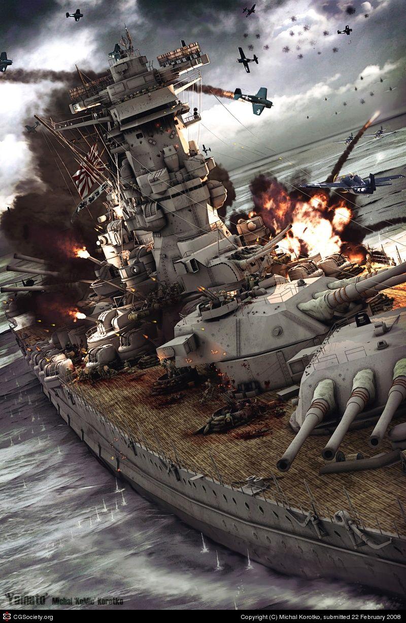 komic — Yamato, last battle