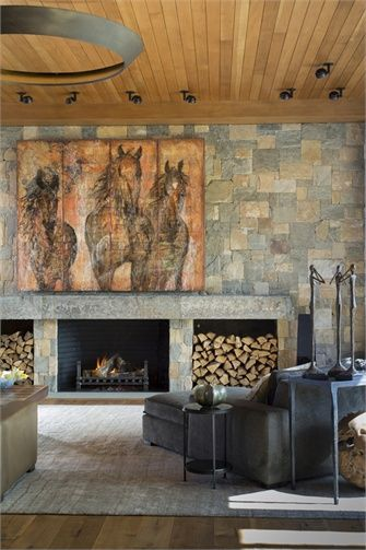 Nice Harness Creek: Contributing To The Living Roomu0027s Warmth Are The Footworn  Walnut Floors, Tongue And Groove Ceiling, And Stone Fireplace Wall. Great Pictures