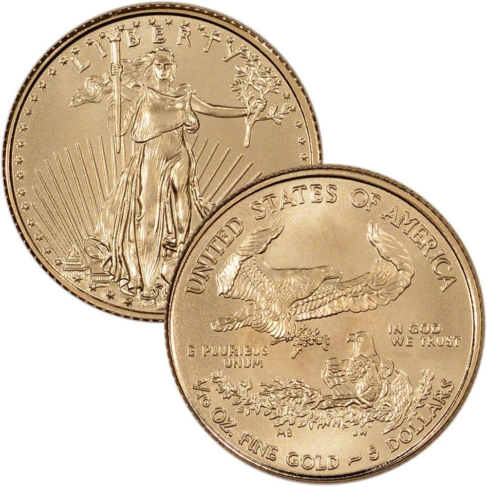 American Gold Eagle 1 10 Oz 5 Bu Random Date 371881303372 Coins Paper Money Bullion Gold Coins For Gold Bullion Coins Gold Eagle Gold Bullion