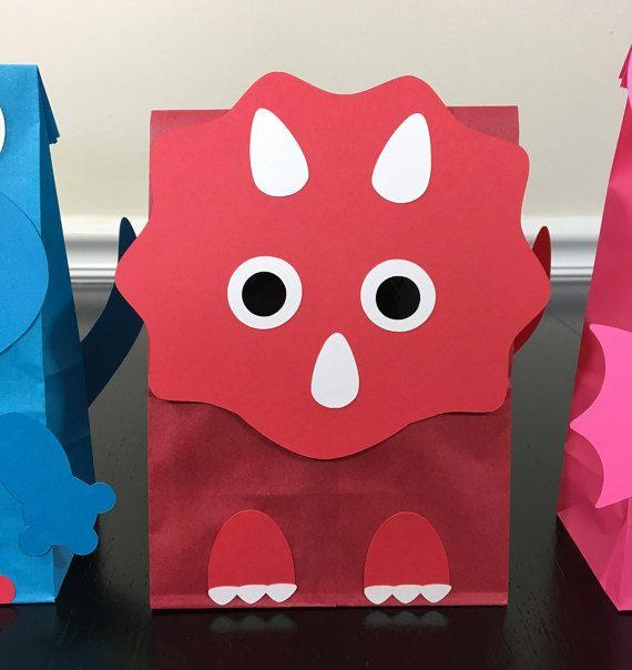 a794f27a9 Dinosaur Favor Bags - cute party decoration for a dinosaur themed ...