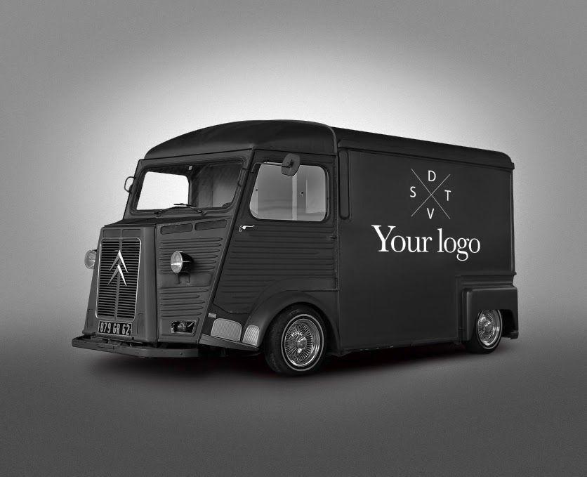 Free Psd Van Food Truck Mockup On Behance Photoshop Brushes Free Photoshop Brush Set Design Mockup Free