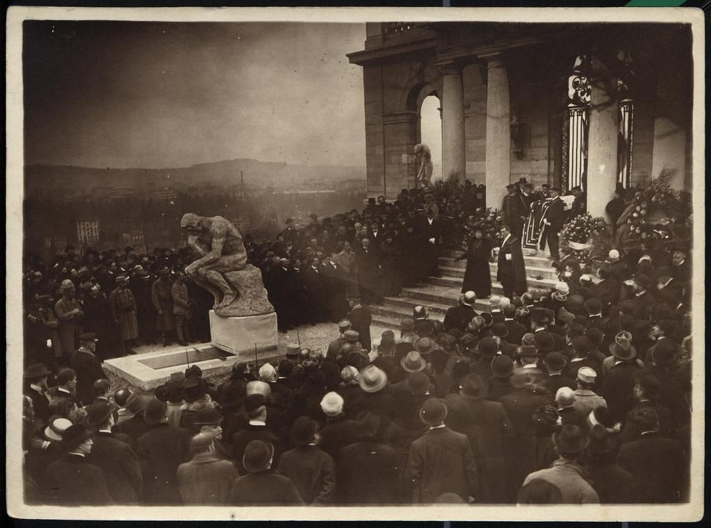 Auguste Rodins funeral November 17,1917