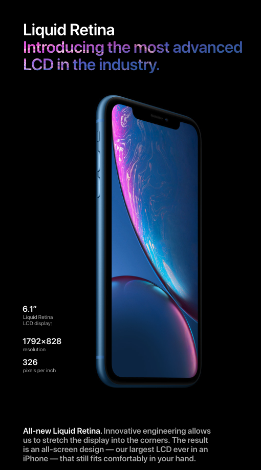 huge selection of 73be0 5ddbc Apple iPhone XR Liquid Retina Display | Apple tech, art, history ...
