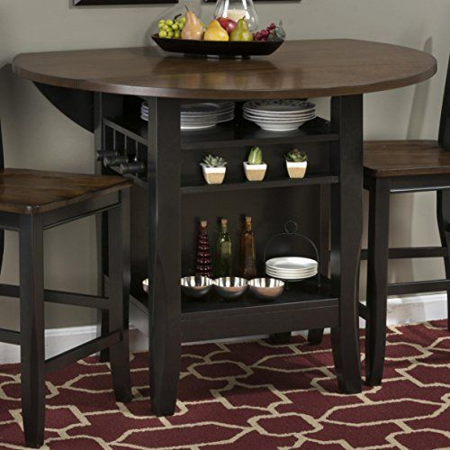 Jofran Antique Black Brown Birch Two Tone 48 Round Dropleaf Counter Height Table Jofran Http Ww Pub Table And Chairs Round Counter Height Table Dining Table