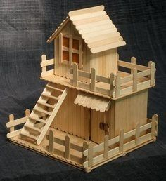 Awesome popsicle stick house...!