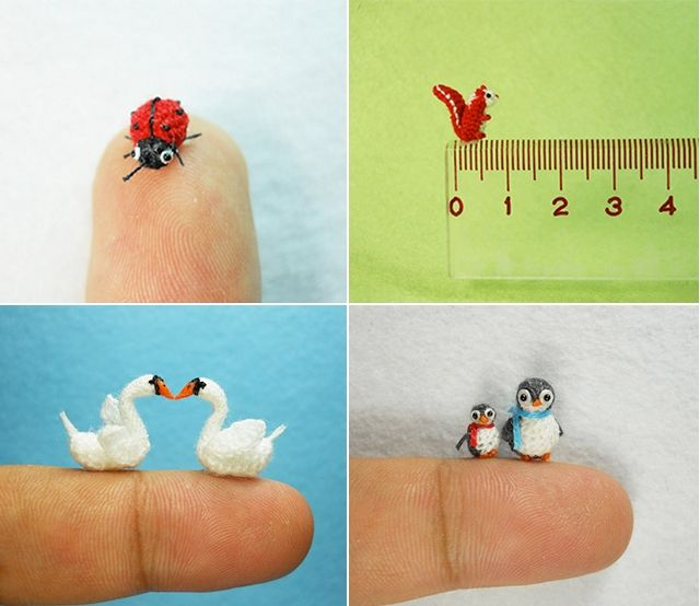 Check out these itty bitty crocheted animals! On average these ...