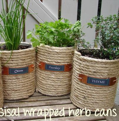 DIY coffee can idea! | CRAFT INSPIRATION | Pinterest | Coffee, Herbs