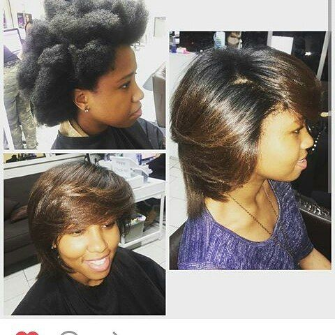 """Regram @mikaenglish """"1st grade teacher needed a pick me up"""" #silkpress #ombrehair  What do you think...A+? 👌"""