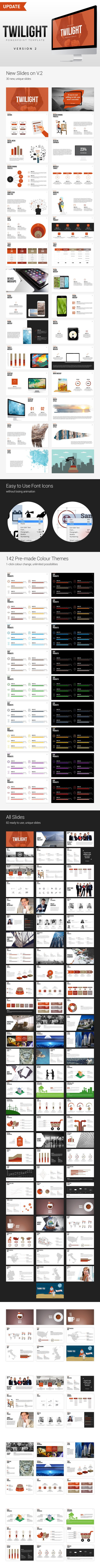 Twilight powerpoint template infographic template and power twilight powerpoint template toneelgroepblik Choice Image