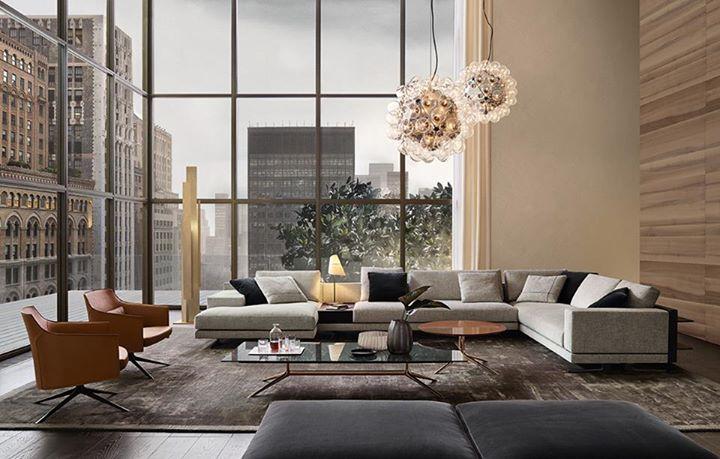 Sedie poliform ~ Metropolitan black leather sofa by jean marie massaud for poliform