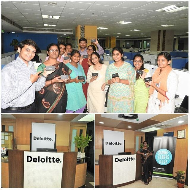 All smiles at Deloitte India Hyderabad office with the new Brand ...