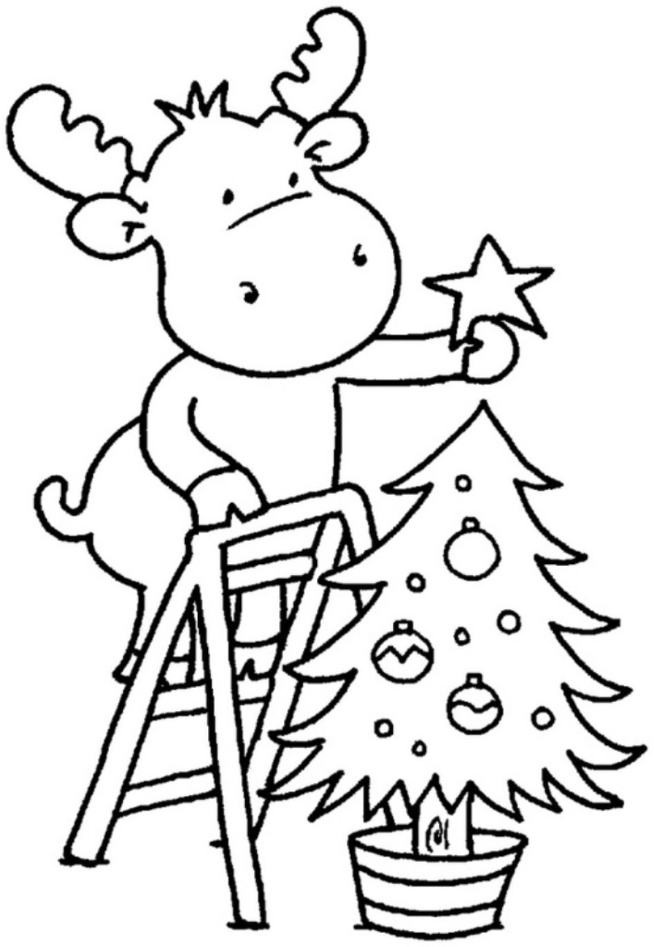 coloring pages christmas tree for children
