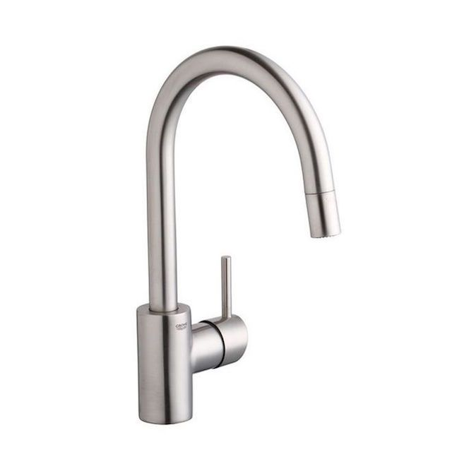 Grohe Concetto Dual Spray Pull Down Kitchen Faucet High Arc