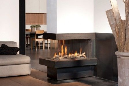 Atmospheric Fireplace Three Sided Gas Fireplace
